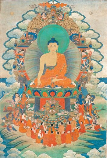 Buddha with Arhats