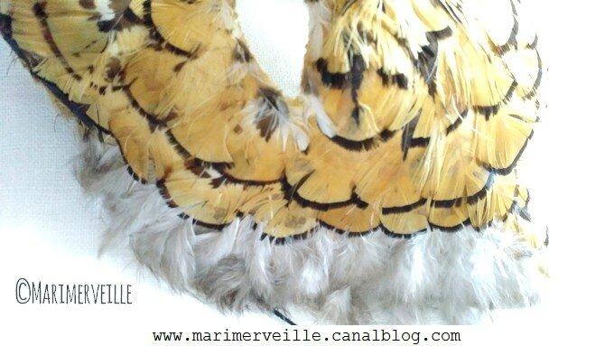 détail 2 masque tigre à plumes Marimerveille