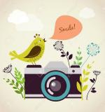 18989766-old-vintage-camera-with-bird-Stock-Vector-photo