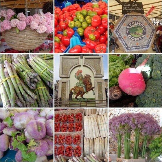 couleurs du marché