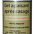 Gel apaisant après rasage - soothing after shave gel
