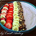 Le smoothie glacé banane fraise de cyril lignac