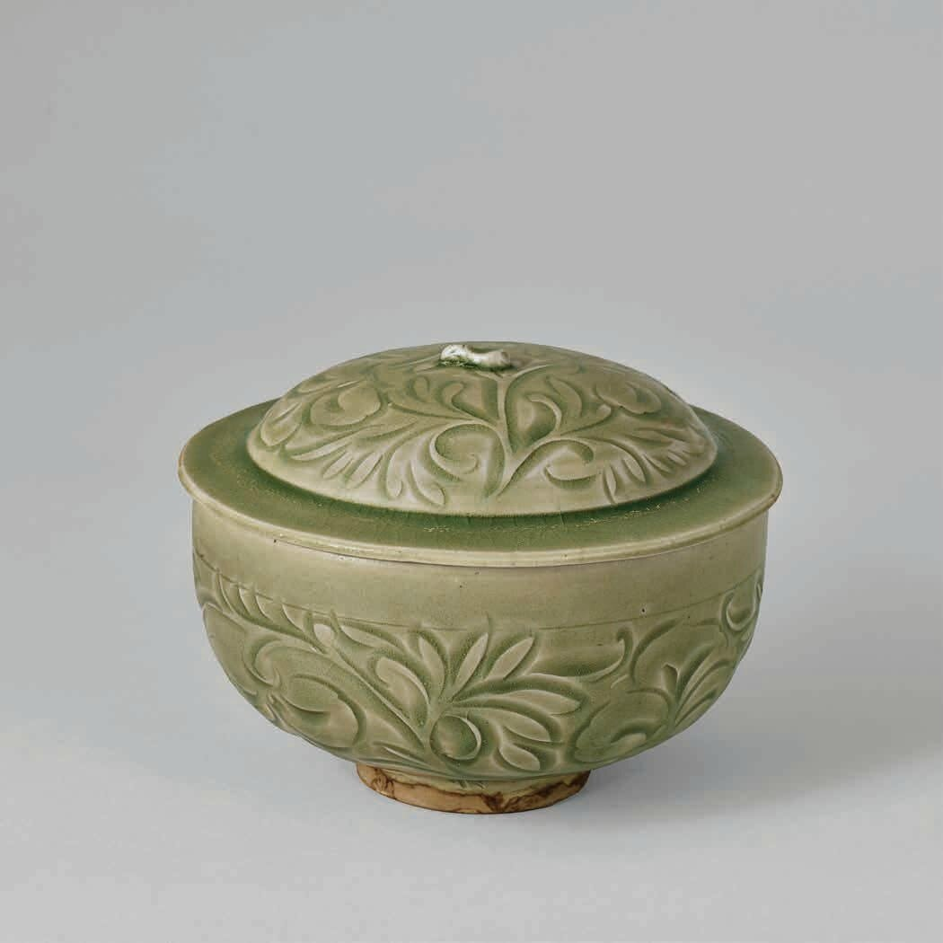 Carved Yaozhou Lidded Bowl, Northern Song Dynasty, 960-1127 A