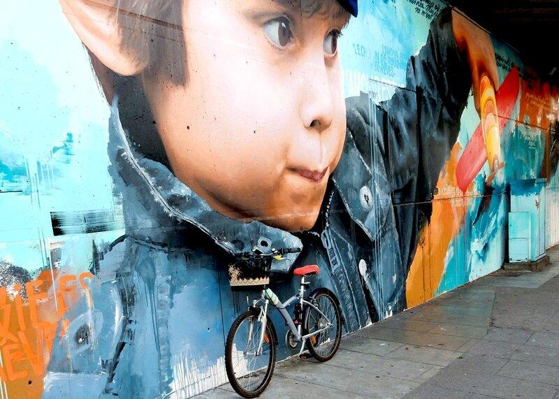 pimp ton vélo (Anisbee) - fresque sur les pas des géants, Toulouse