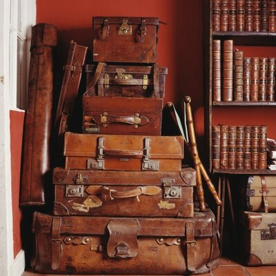 stack-of-antique-leather-suitcases