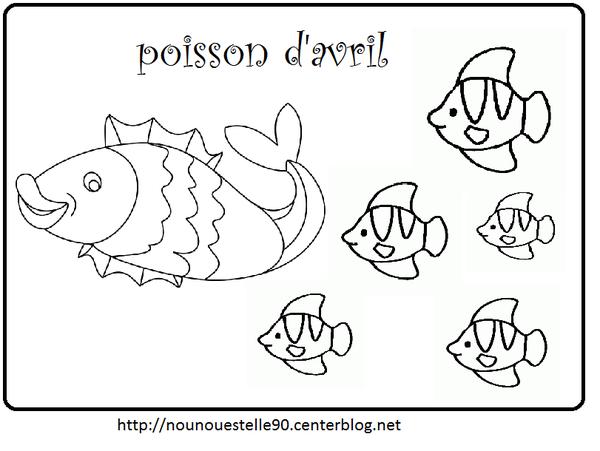 Coloriages poisson avril assistante maternelle - Poisson avril dessin ...