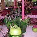 Table bruyère + pomme