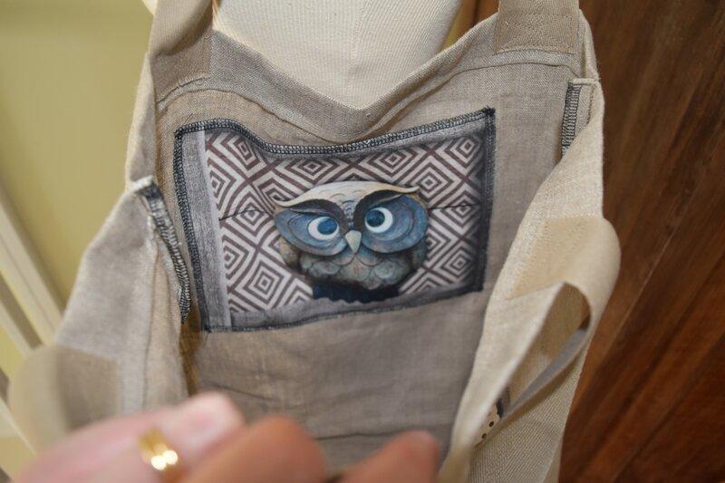 Détail de la poche intérieure