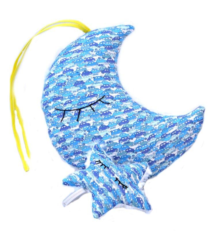 boite à musique lune et étoile mélodie la mer original liberty car bleu shirley ze pap jaune vif (2)