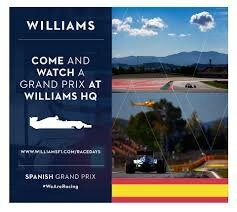 WILLIAMS RACE DAY AFFICHE