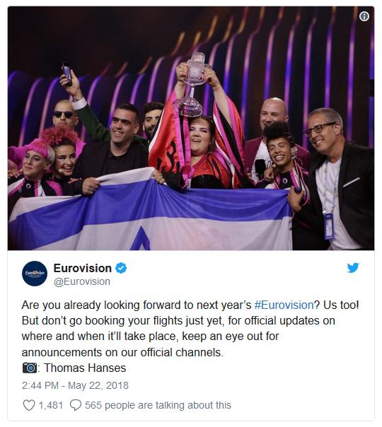 Twitt Eurovision organisation