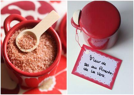 cadeau gourmand fait maison fleur de sel au paprika fumé pimenton blog chez requia