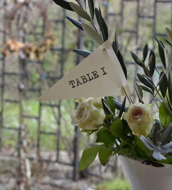 étiquette fanion plan de table numéro de table mariage champêtre chic bohème nature campagne boho cérémonie baptême naissance décoration de table papeterie de mariage de petits riens161552