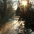 Brume matinale en hiver.