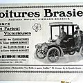 Brasier automobile circa 1900 publicite ancienne au 1