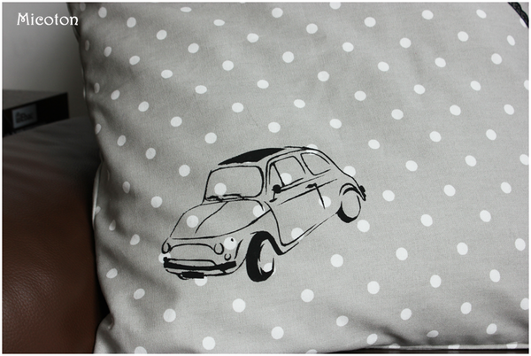 coussin fiat 500 2