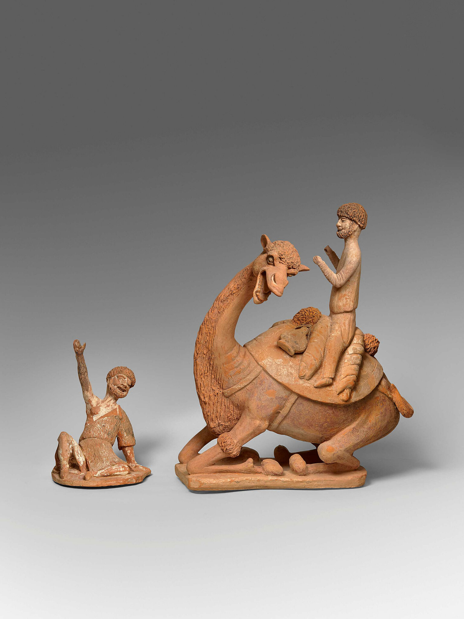 Camel and beggar, China, Tang Dynasty (618-907), 8th century