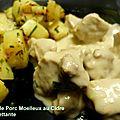 Sauté de porc moelleux au cidre