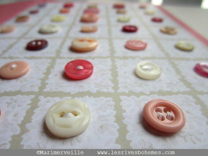 carte Marimerveille planche à boutons vintage