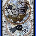 Carte love - pour nos 10 ans