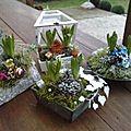 Compositions fleurales faites par mes petites