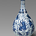 Two blue and white kraak bottle vases & a dish, wanli period (1572-1620) at lempertz, 24 june 2021