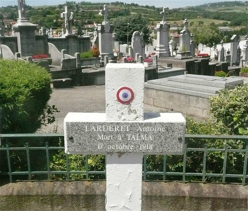 Antoine Larderet, tombe