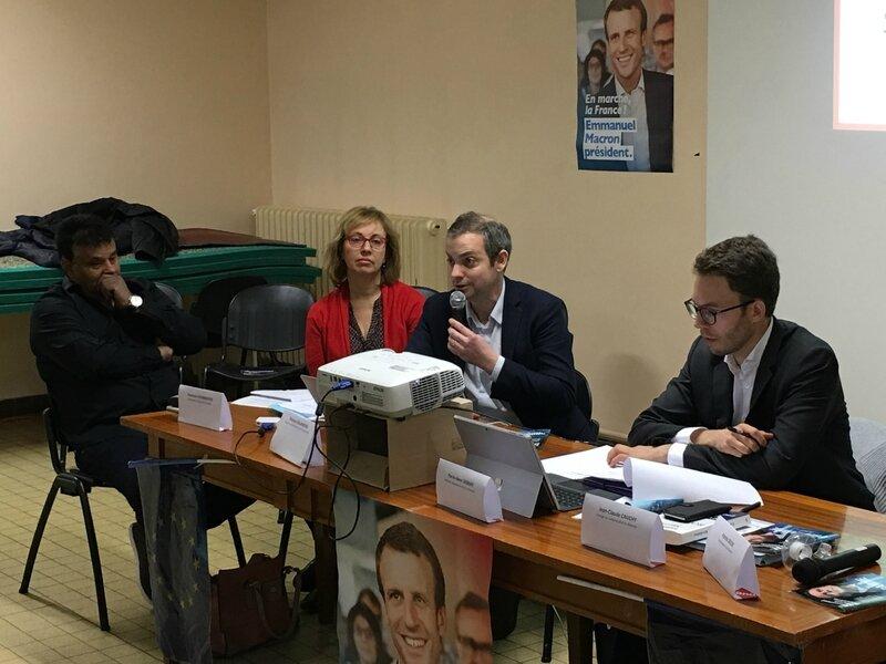 Thomas Collardeau Francine Fourmentin candidat elections legislatives 2017 investiture mouvement en Marche Macron Avranches