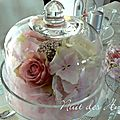 décoration de table rose et gris