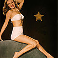 1946, portraits studio - pin-up marilyn en bikini par bruno bernard