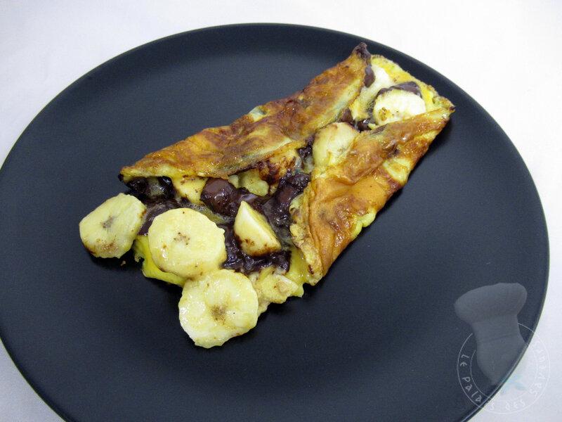 Omelette banane chocolat