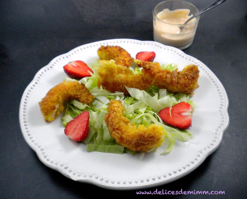 Salade de crevettes panées et sauce cocktail rapide 5