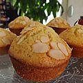 Muffins citron-amande
