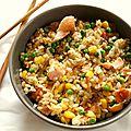 Riz cantonais au saumon
