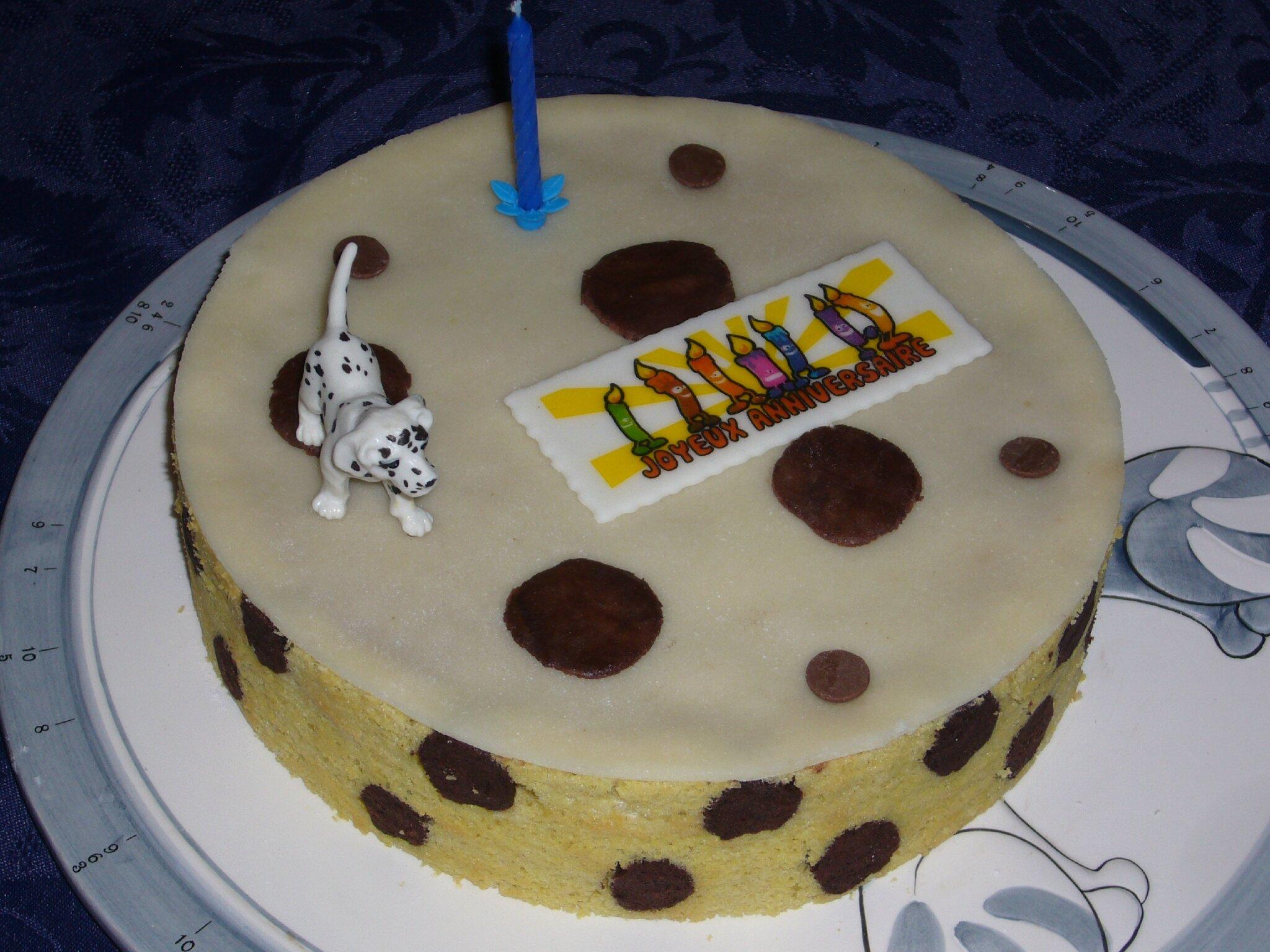Entremets Mousse Au Chocolat Poires Theme Des 101 Dalmatiens Pour