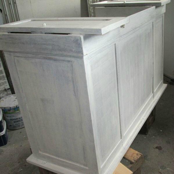 bureau ancien revisit patine production. Black Bedroom Furniture Sets. Home Design Ideas