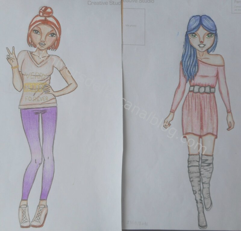 Anciens dessins top model 3 l 39 univers d 39 ella - Top model carnet de dessin ...