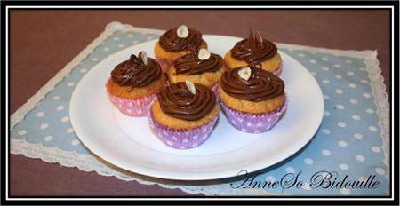 Cupcakes noisettes et nutella