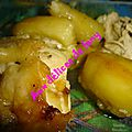 Poulette aux pommes de terre rate