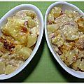Gratin de pommes de terre façon tartiflette