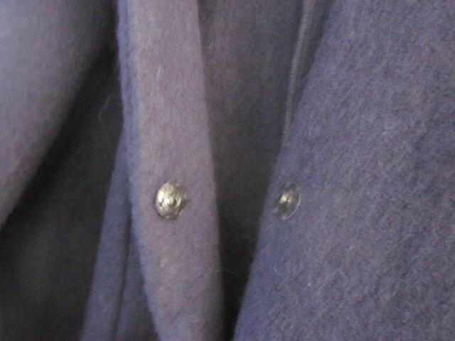 Redingote EDMONDE en laine bouillie MARINE - taille 56 (13)