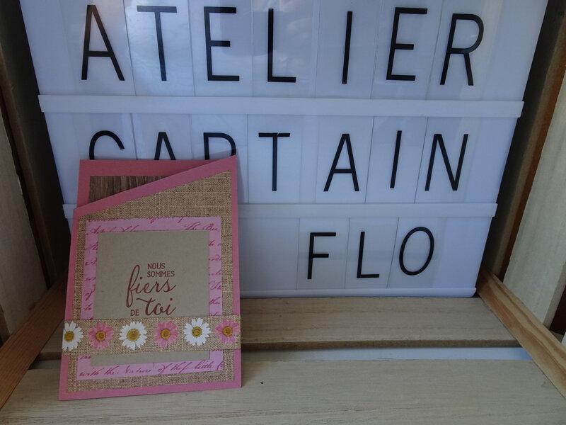 29a Carte 3 Volets en pliage Fleurs séchées