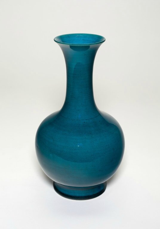 Bottle-Shaped Vase with Flaring Mouth, Qing dynasty (1644-1911)