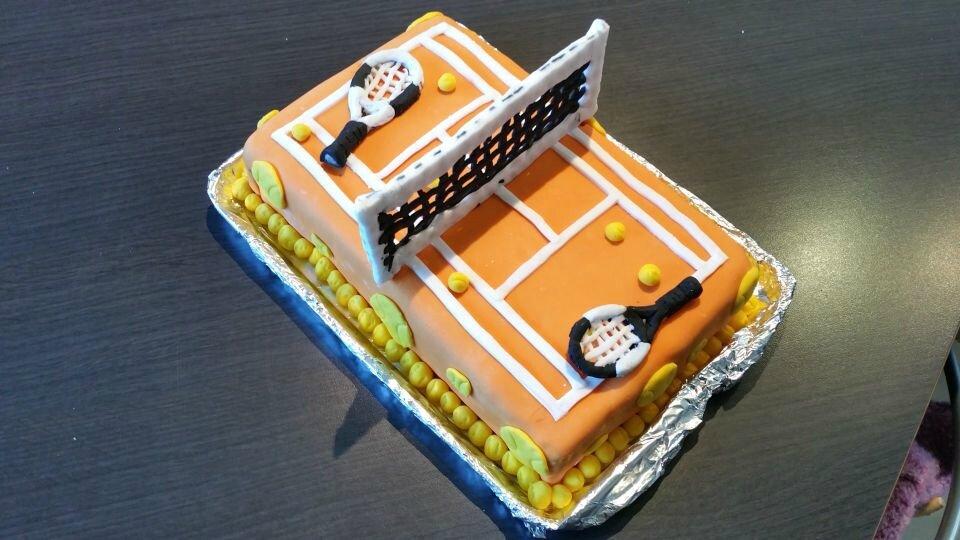 Gâteau terrain de tennis