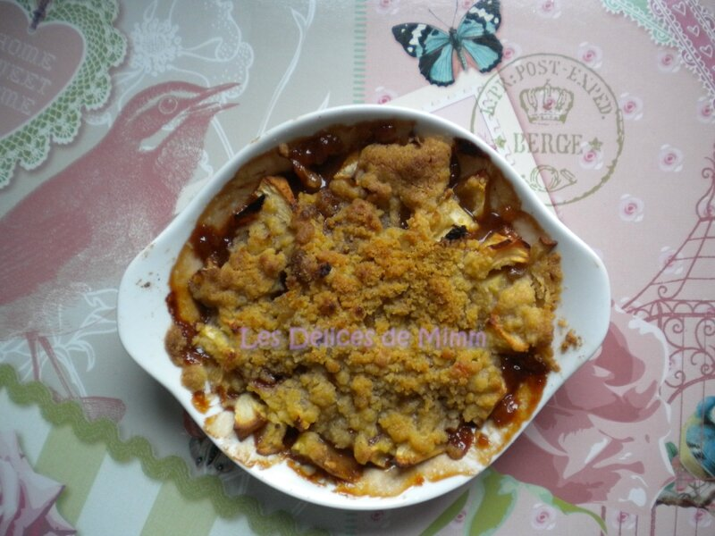 Crumble aux pommes et aux carambars 2