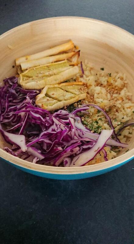 riz et lentilles corail courgettes choux