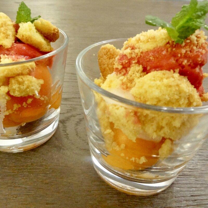 Verrines glacées à l'abricot 2