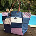 Sac sardine & cie collection patchwork