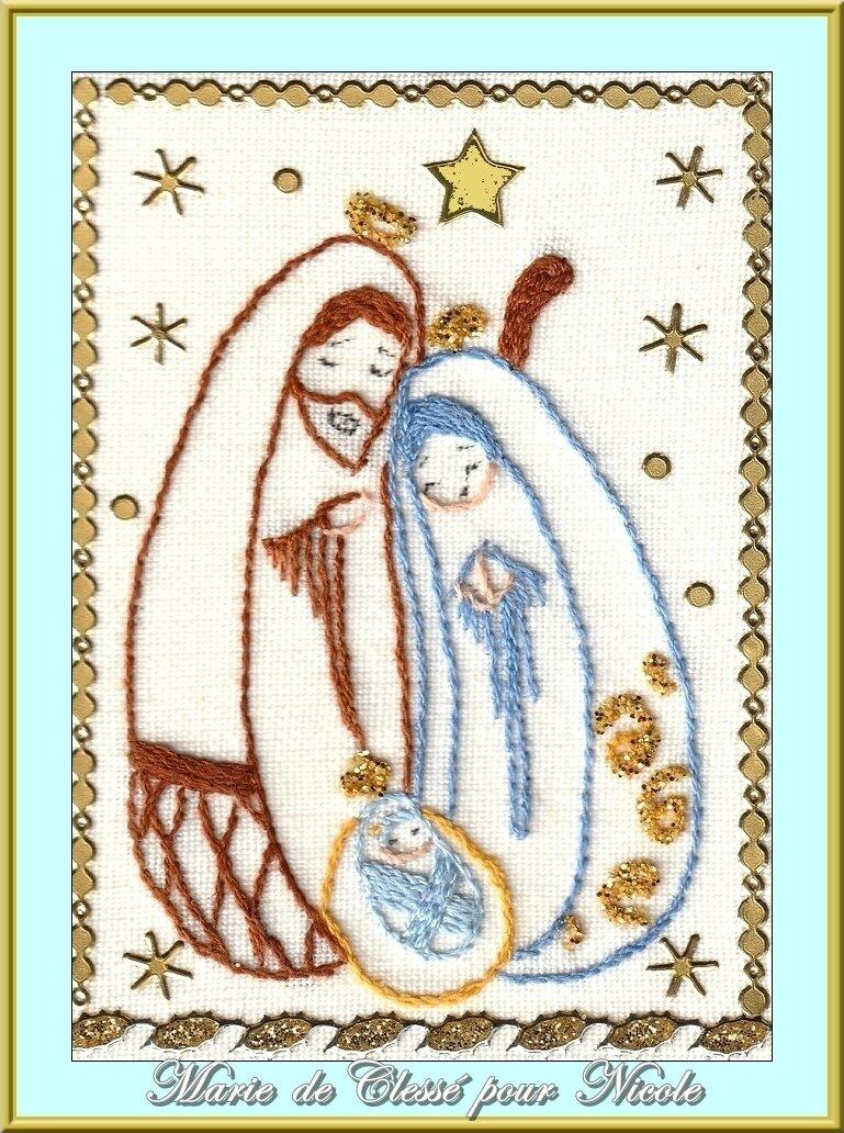 Échange ATC (Nativité) Chez Lysettte Décembre Marie de Clessé pour Nocole 1
