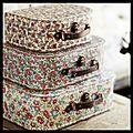 Set 3 valisettes gigognes rétro fleurettes - set 3 valisettes gigognes rétro liberty - les fleurs